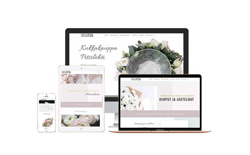 Kukkakaupan nettisivut